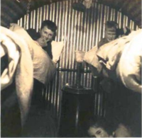 Anderson shelter in Bournemouth during WW2