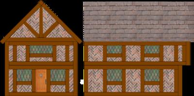 Tudor House Card Cut-Out Model - DT Online