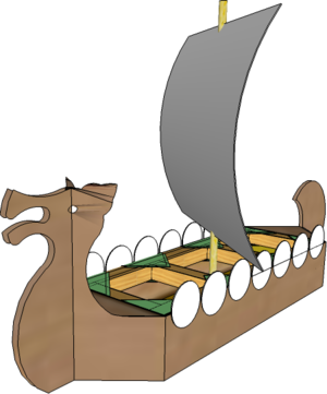 Viking Longship based on juice carton