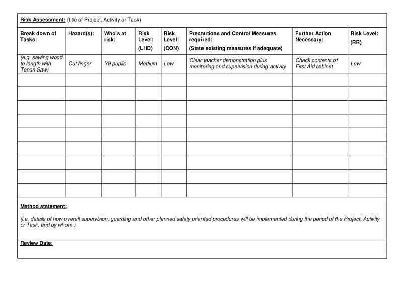 FileDTOLRiskAssessmentBLANKpdf DT Online – Blank Method Statement